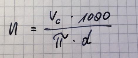 Drehzahlberechnung           (... mal etwas ganz einfaches)